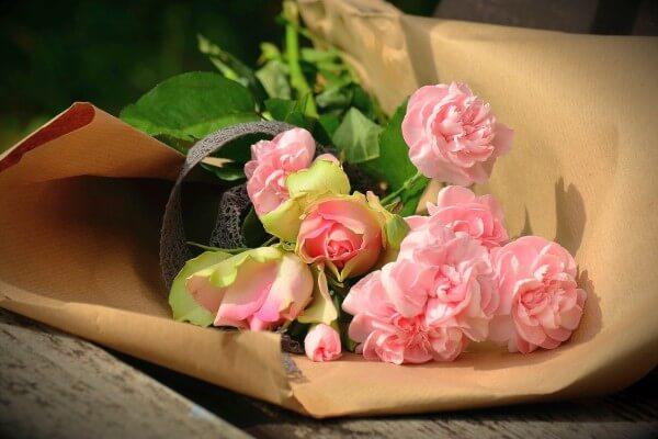 frische Blumen zum Valentinstag