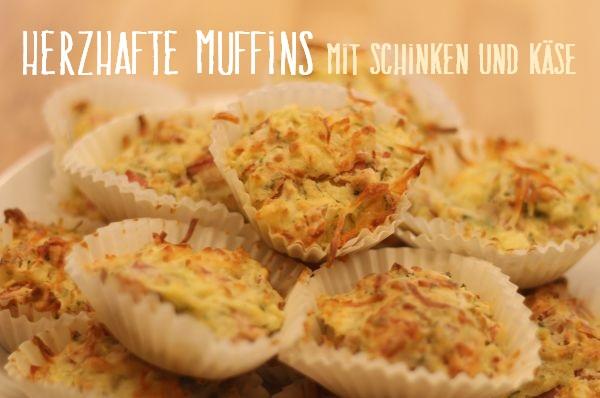 Herzhafte Muffins mit Schinken und Käse