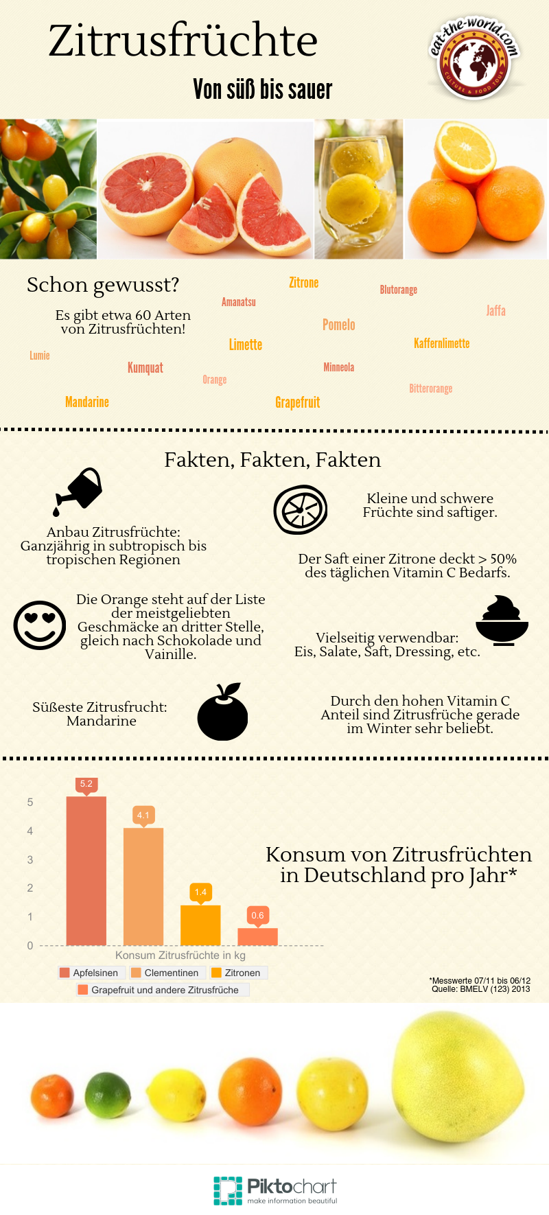 Infografik: Zitrusfrüchte