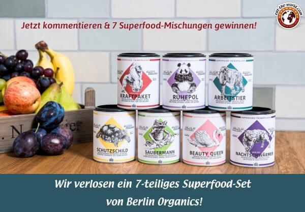 Gewinnen Sie die leckeren Superfood-Mischungen von Berlin Organics!