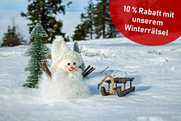 Lustiges Winterrätsl: Wie viel Kilogramm Kuchen isst der Schneemann?